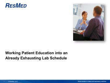 Working Patient Education Into an Already Exhausting Lab ... - Foocus