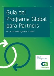 Guía del Programa Global para Partners de CA Data ... - ARCserve