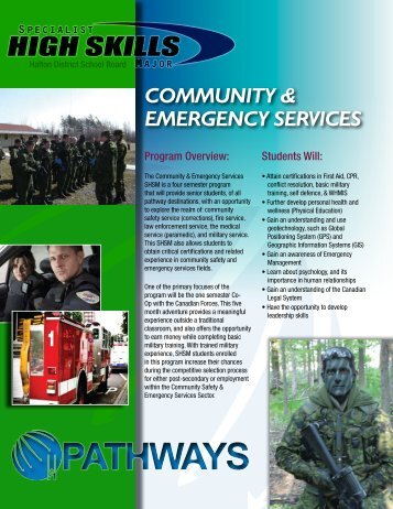 COMMUNITY & EMERGENCY SERVICES - Employer Registry