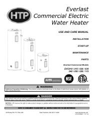 Everlast Commercial Electric Water Heater - Heat Transfer Products ...