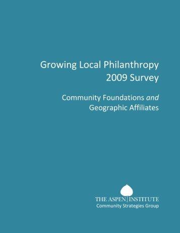 Growing Local Philanthropy 2009 Survey - Community Strategies ...