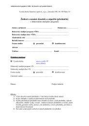 Ţádost o uznání zkoušek a zápočtů (předmětů) - IS VŠFS