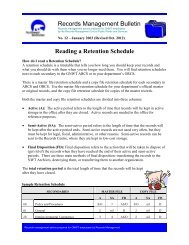 Reading a Retention Schedule - Department of Public Works and ...