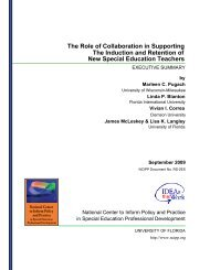 The Induction and Retention of New Special Education ... - NCIPP