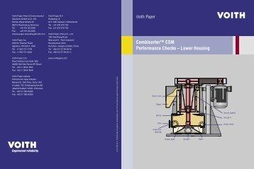 Combisorter™ CSM Performance Checks – Lower Housing - Voith