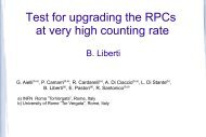 Test for upgrading the RPCs at very high counting rate - Infn