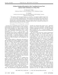 Uniform Statistical Description of the Transition between Near and ...