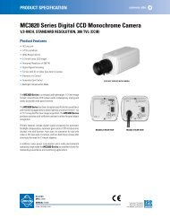 MC3820 Series Digital CCD Monochrome Camera - Cables Plus USA