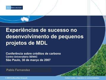 EcoSecurities Group plc - Senac São Paulo