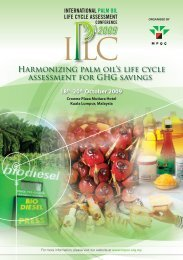 Harmonizing palm oil's life cycle assessment for GHG savings - MPOC