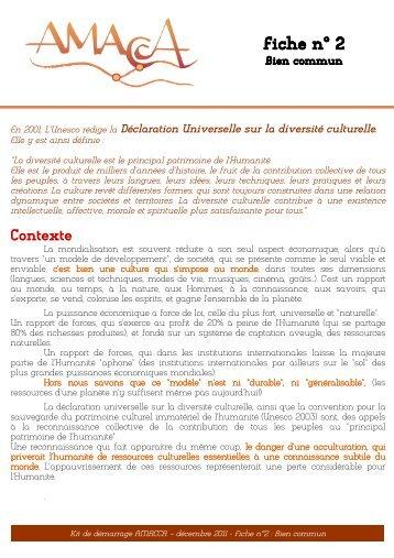 Fiche n°2 bien commun - Réseau Culture 21
