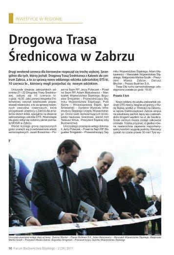 Drogowa Trasa Średnicowa w Zabrzu - śląska izba budownictwa