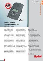 Brochure Tiptel 215 plus - Topcom Nederland