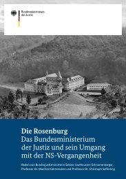 Die Rosenburg Das Bundesministerium der Justiz und sein Umgang ...
