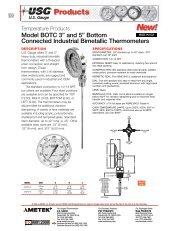 USG Model BOTC BiMetallic Thermometer - PEC-KC.com