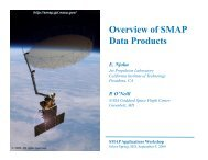 Overview of SMAP Data Products - SMAP - NASA
