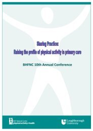 2010 - BHF National Centre - physical activity + health