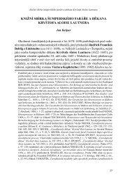 Knižní sbírka šumperského faráře a děkana Kryštofa Aloise Lautnera