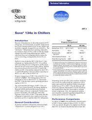Suva® 134a in Chillers - DuPont