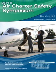 Air Charter Safety Symposium - Air Charter Safety Foundation