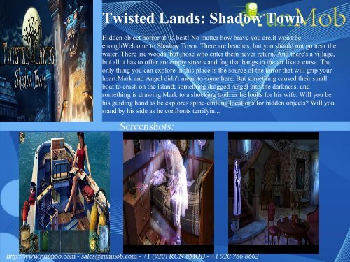 Twisted Lands: Shadow Town - RunMob