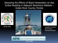 Assessing the Effects of Beach Restoration on Sea Turtles ... - fsbpa
