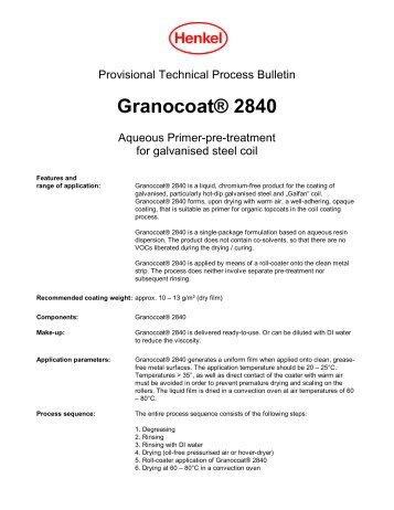 Granocoat® 2840 - Henkel