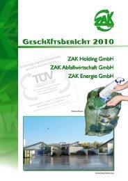 Geschäftsbericht 2010 - ZAK