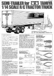 Tamiya Semi-Trailer Manual - Wheels Academy