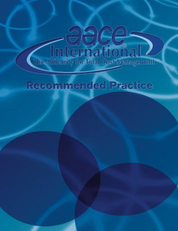 40R-08: Contingency Estimating - AACE International