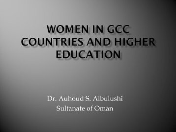 Auhoud Said Albulushi presentation (pdf) - Internationalising Higher ...
