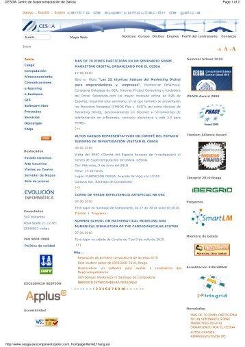 Page 1 of 2 CESGA-Centro de Supercomputación de Galicia http ...