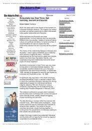 RI-Australia ties: East Timor, Bali bombing, tsunami and ... - Asialink