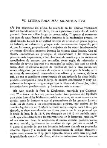 VI. LITERATURA MÁS SIGNIFICATIVA - Biblioteca Jurídica Virtual