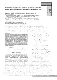 Formation of optically active chromanes by catalytic asymmetric ...