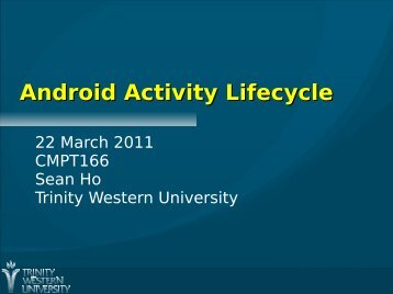 Android Activity Lifecycle