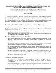 Principes de bonnes pratiques transfusionnelles - Coordonnateurs ...