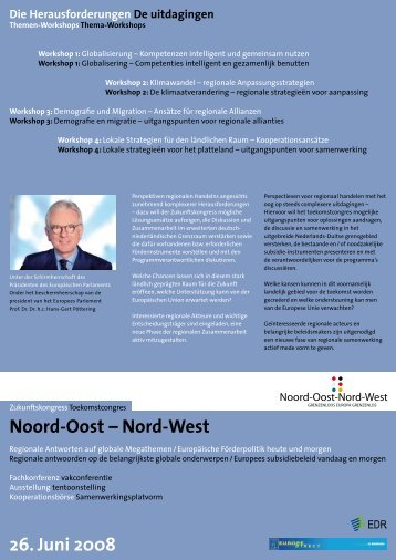 Noord-Oost – Nord-West 26. Juni 2008 - Interreg IV A Deutschland ...