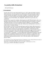 La pratica della formazione - Dipartimento di Comunicazione e ...