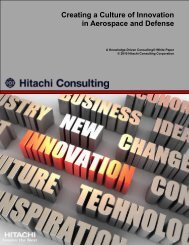 Creating a Culture of Innovation in Aerospace and Defense - Hitachi ...
