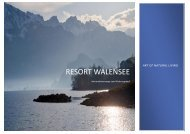 Informationsmappe Wohnungsverkauf - Resort Walensee