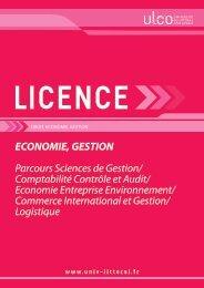 Licence Economie et Gestion - Université du Littoral Côte d'Opale