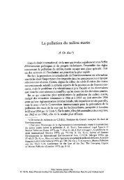 La pollution du milieu marin - Zeitschrift für ausländisches ...