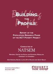 973 Building the Profile - NATSEM - University of Canberra