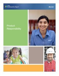 Product Responsibility - Baxter Sustainability Report