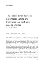 The Relationship between Disordered Eating and Substance Use ...