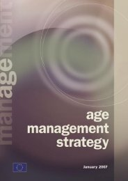 Age Management Strategy, January 2007 - European Profiles SA