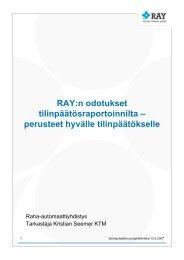 RAY:n odotukset tilinpäätösraportoinnilta ... - Sininauhaliitto