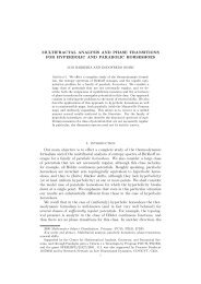 MULTIFRACTAL ANALYSIS AND PHASE TRANSITIONS FOR ...