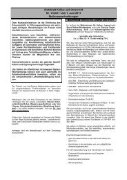Amtsblatt Kultus und Unterricht Nr. 11/2011 vom 1 ... - Kultusportal